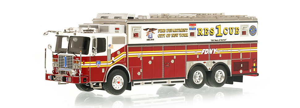 Rescue 1 is hand-crafted using over 600 individual parts.