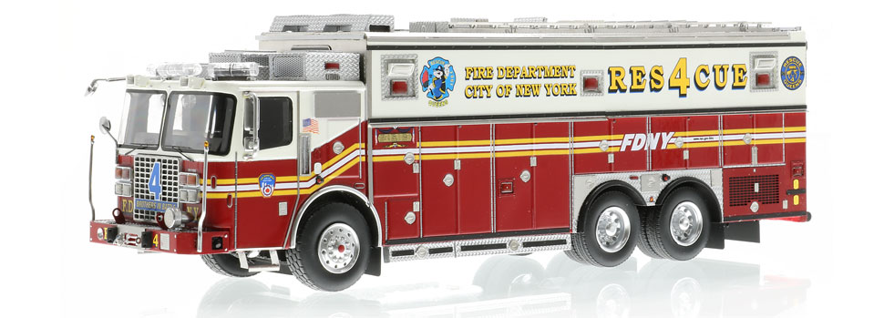 FDNY Rescue 4 is hand-crafted using over 600 individual parts.