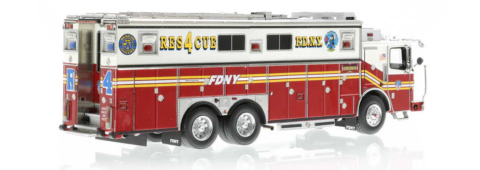 Authentic to FDNY Rescue 4 Ferrara Heavy Rescue