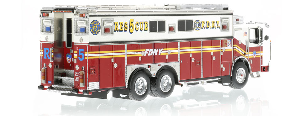 Authentic to FDNY Rescue 5 Ferrara Heavy Rescue