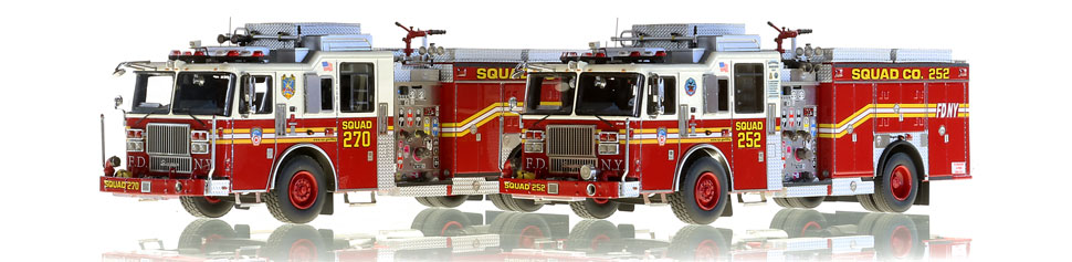 For the elite collector, FDNY Squads 252 and 270