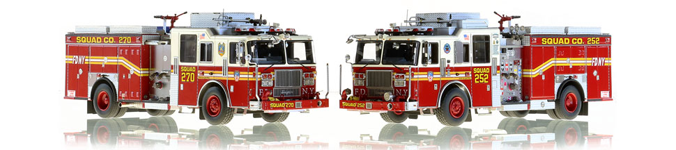FDNY Squads 252 and 270 scale models
