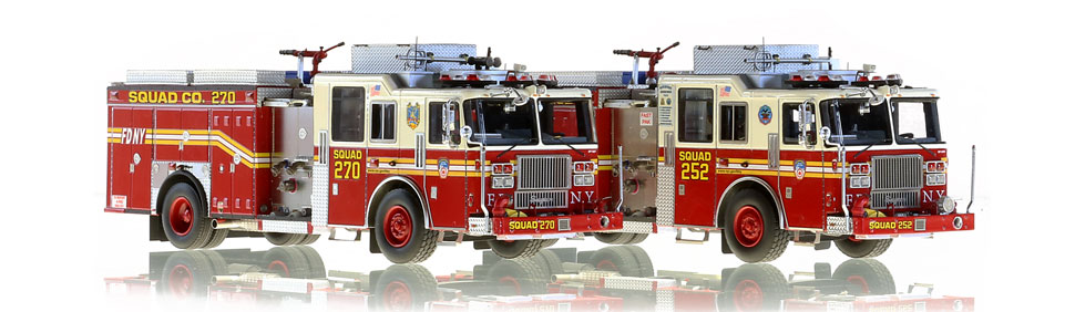 FDNY Squad 252 and 270 scale model are authentic to their respective companies