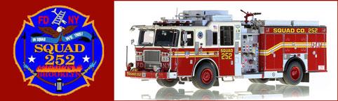 FDNY Squad 252 scale model