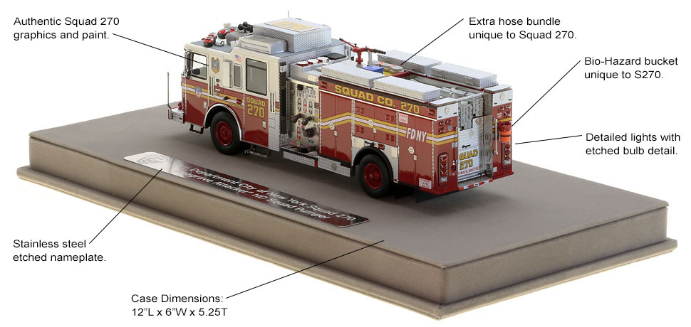 Authentic details to the FDNY Squad 270 rig