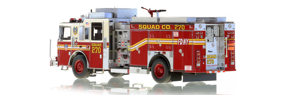 FDNY Squad 270 scale model includes over 450 parts