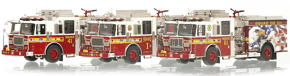 Only a limited number of FDNY Squad 3-Piece set are available