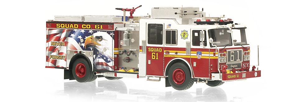 FDNY Squad 61 replica features razor sharp accuracy