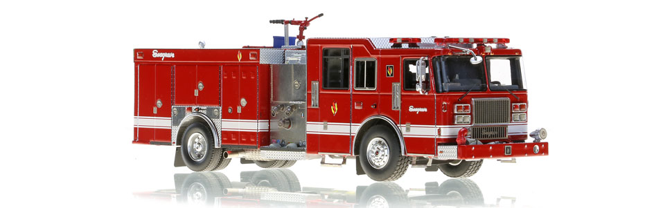 The first 1:50 scale Seagrave Rescue Pumper replica