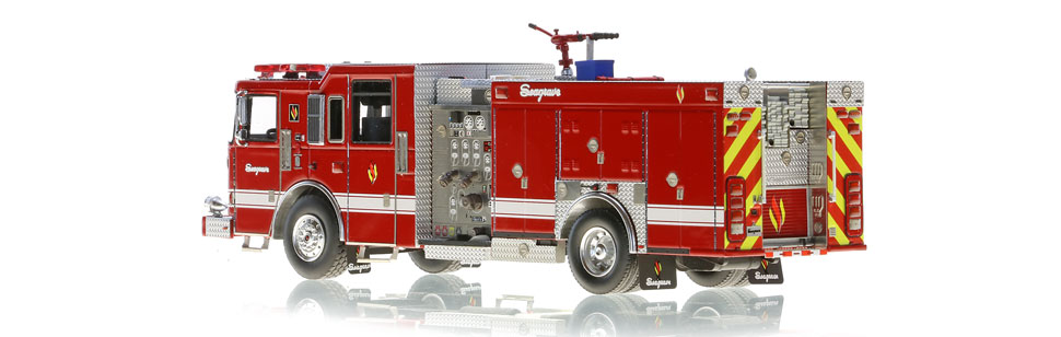 The 2018 Limited Edition Rescue Pumper is hand-crafted.