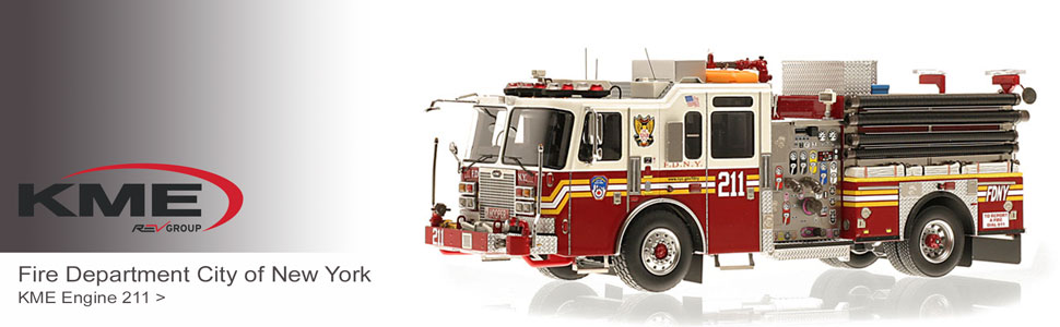 KME scale model fire trucks