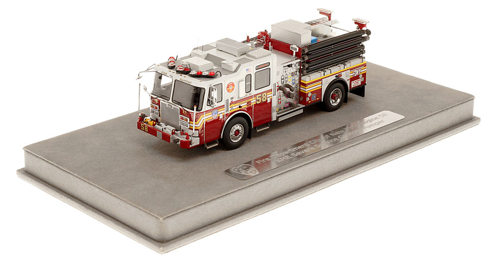 FDNY Engine 58 includes a fully custom display case.