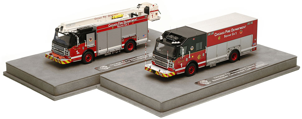 CFD Squad 1 and 1A include a fully custom display case.