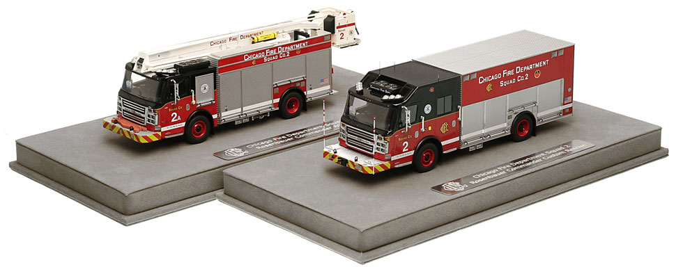 CFD Squad 2 and 2A include a fully custom display case.