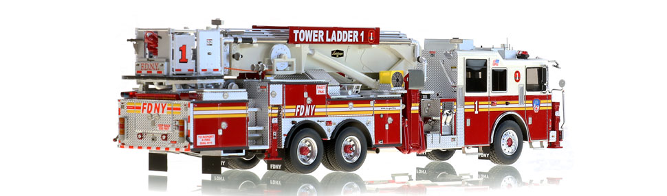 FDNY Tower Ladder 1 features over 785 hand-crafted parts.