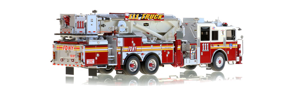 FDNY Tower Ladder 111 features over 785 hand-crafted parts.