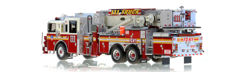 Production of FDNY Tower Ladder 111 is limited to 125 units.