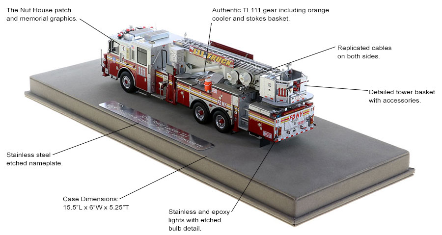 Authentic Tower Ladder 111 configuration and graphics