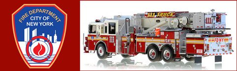 Shop FDNY scale models including Tower Ladder 111