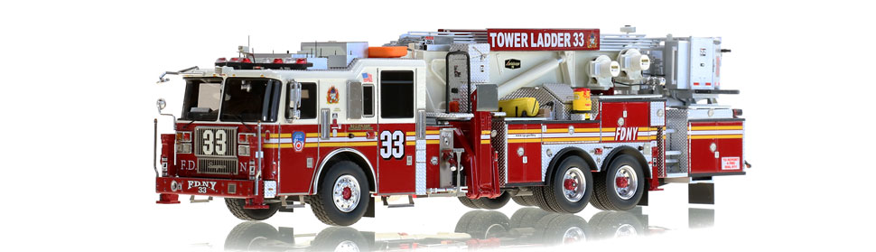 FDNY Tower Ladder 33 features hundreds of stainless steel parts.