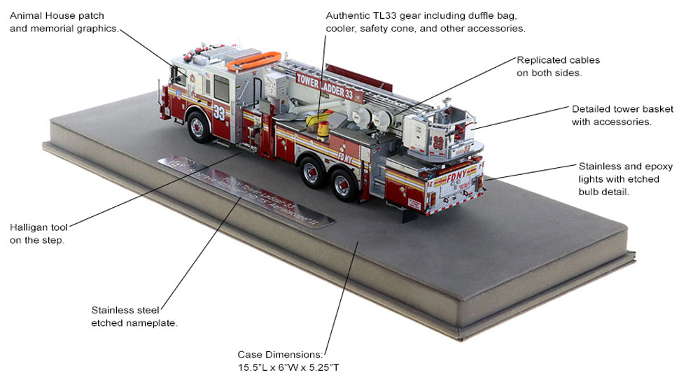 Authentic Tower Ladder 33 configuration and graphics
