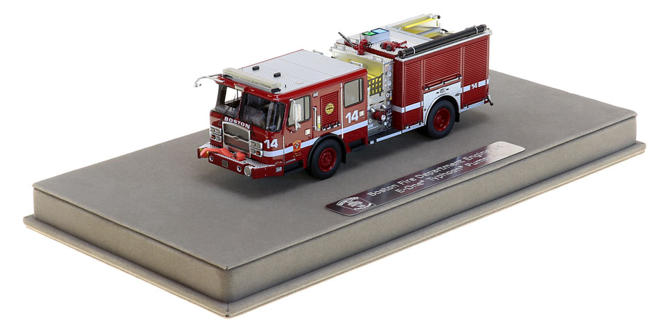 Boston E14 includes a fully custom display case.
