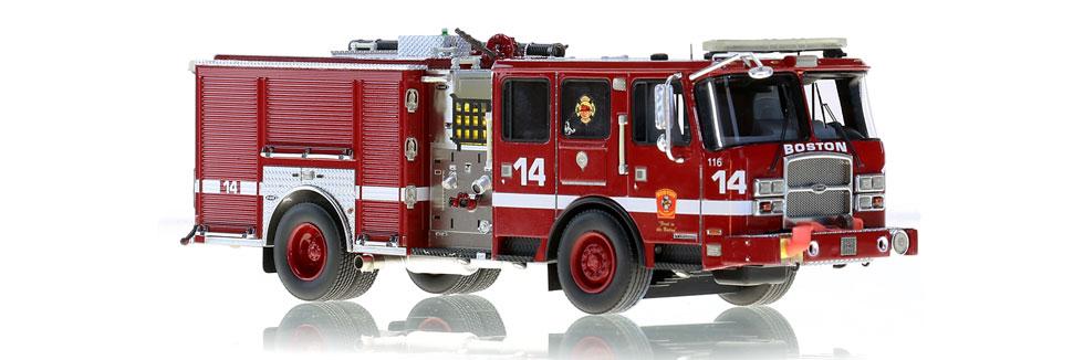 Boston E14 features museum grade precision