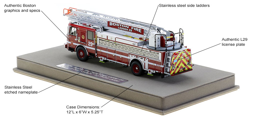 Boston Ladder 29 features authentic specs and graphics