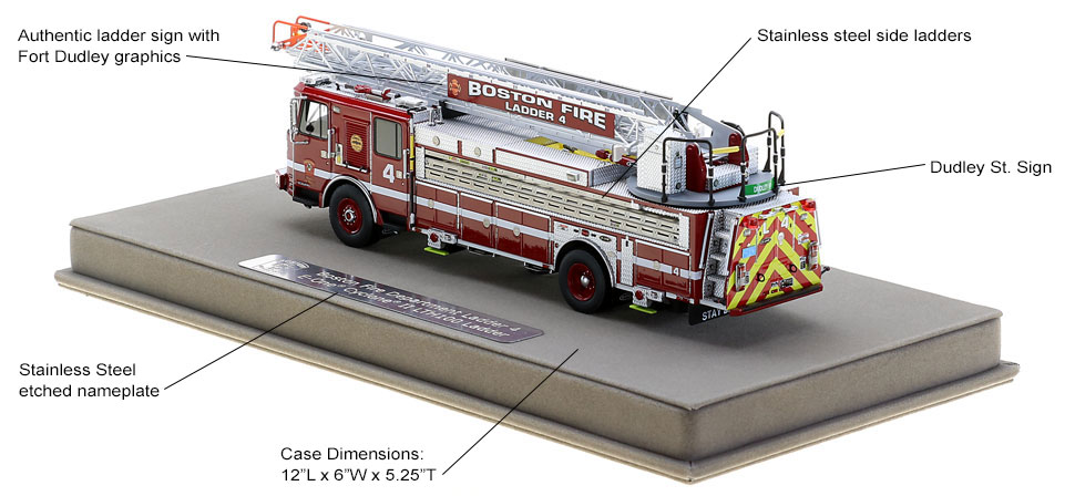 Authentic graphics and specs to Boston Ladder 4
