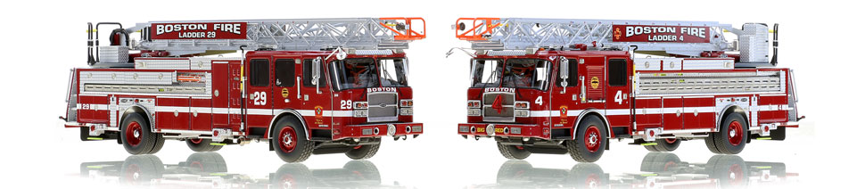 Boston Ladders 4 and 29...scale models for the elite collector