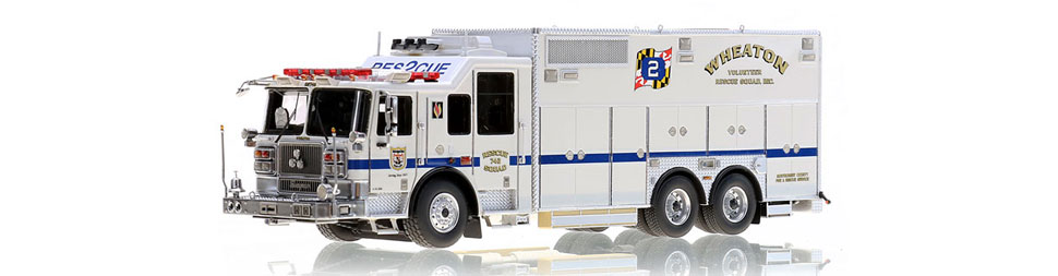 Wheaton Volunteer Rescue Squad RS742 scale model
