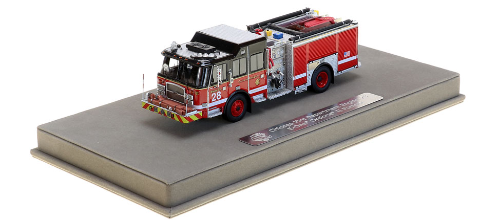 Engine 28 includes a fully custom display case.