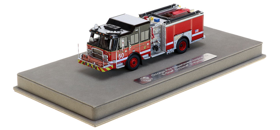 Engine 50 includes a fully custom display case.