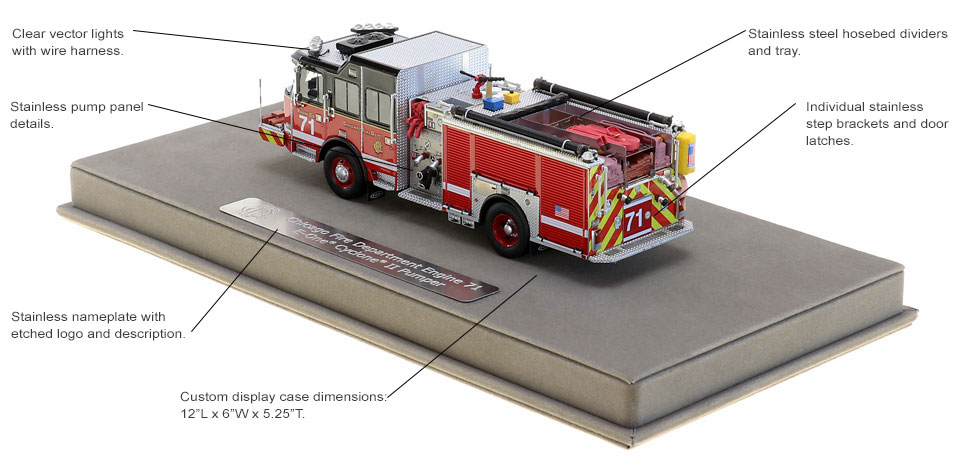 CFD Engine 71 replica features authentic details.