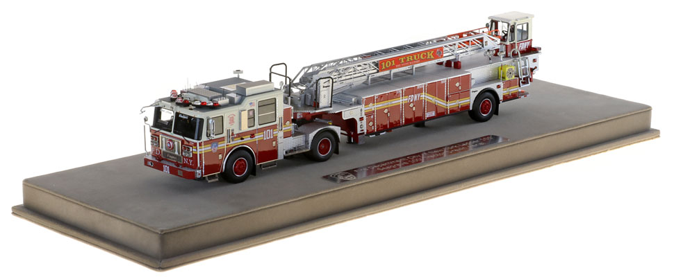 FDNY Ladder 101 scale model includes a fully custom case.