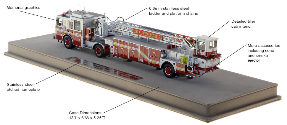 FDNY Ladder 101 scale model includes authentic details