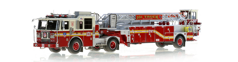 FDNY Ladder 101 features a 0.6mm stainless steel ladder