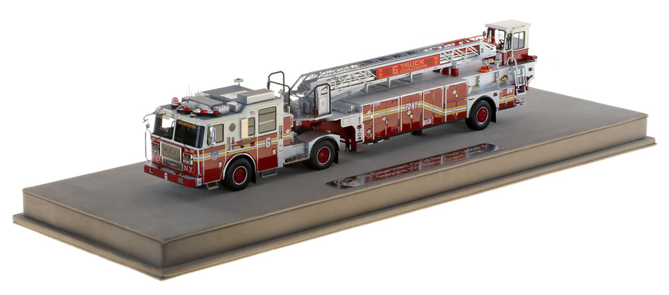 FDNY Ladder 6 scale model includes a custom display case