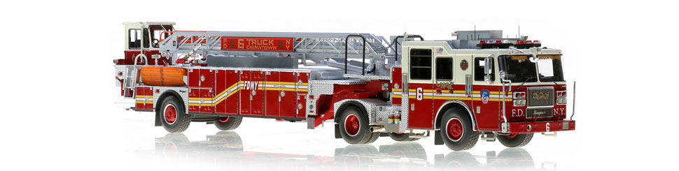 FDNY Ladder 6 features a 0.6mm stainless steel ladder