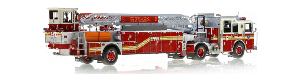 FDNY Ladder 6 is hand-crafted from over 920 parts