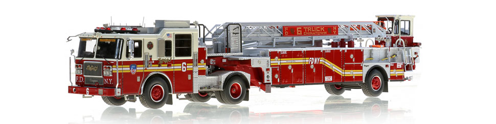 FDNY Ladder 6 scale model is authentic to Chinatown's Tiller