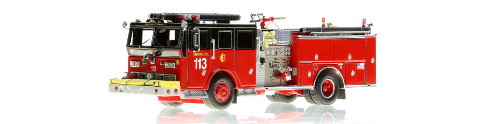 Chicago Engine 113 museum grade scale model. Prototype shown.