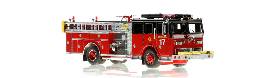 Chicago Engine 17 scale model is a museum grade replica