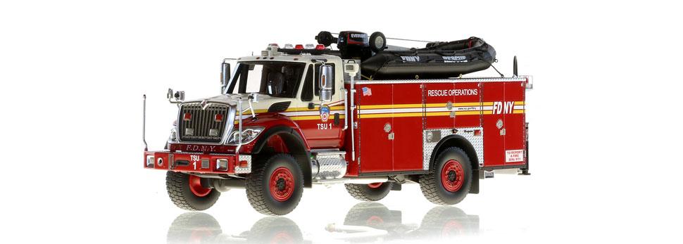Authentic FDNY TSU 1 scale model