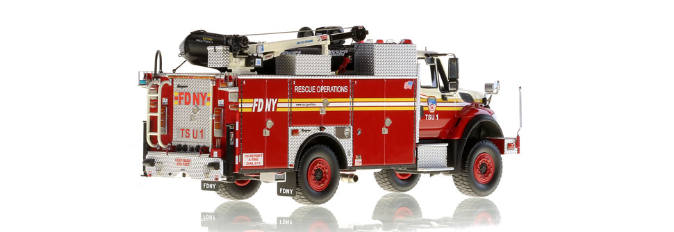 FDNY TSU 1 scale model is hand-crafted