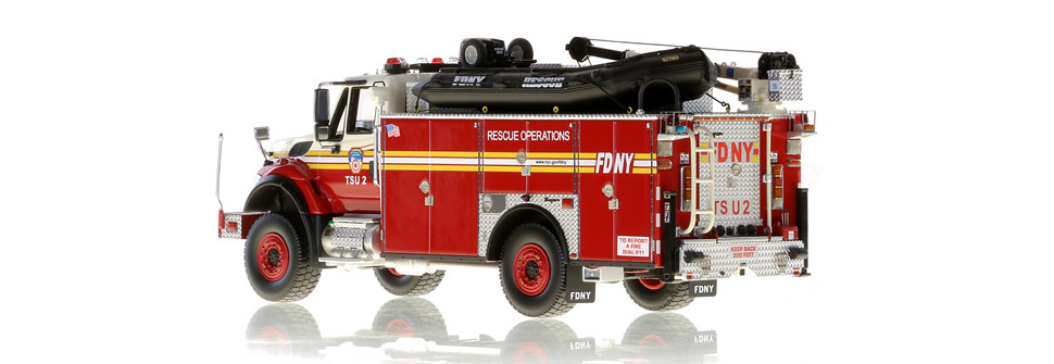 FDNY TSU 2 scale model is hand-crafted