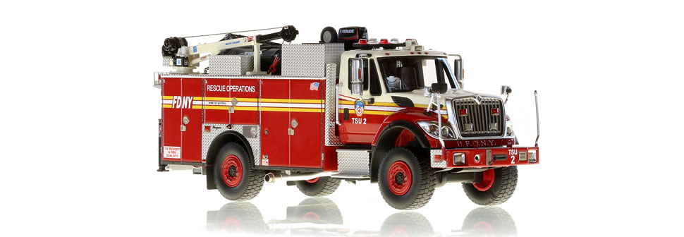 Authentic FDNY TSU 2 scale model