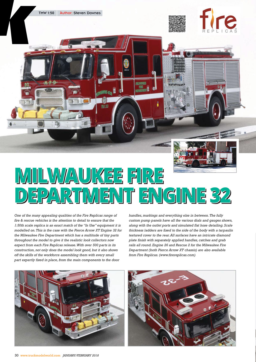 Milwaukee Engines featured in Truck Model World, U.K.