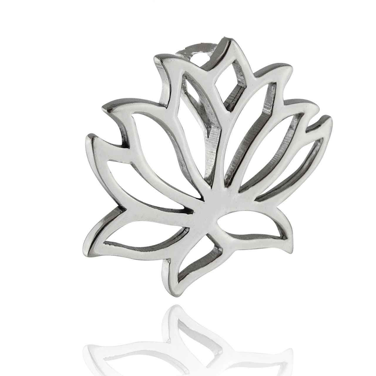 Sterling Silver Lotus Flower Pendant Reo Company