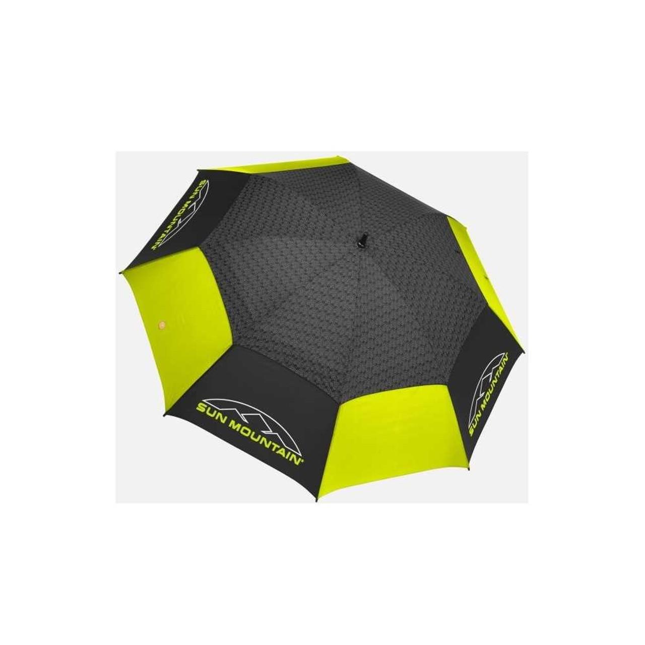 Sun Mountain Golf Manual Umbrella Black Citron